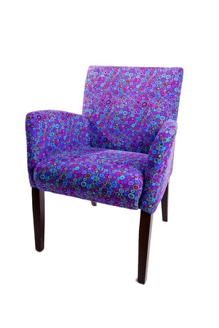 Purple dotted chair