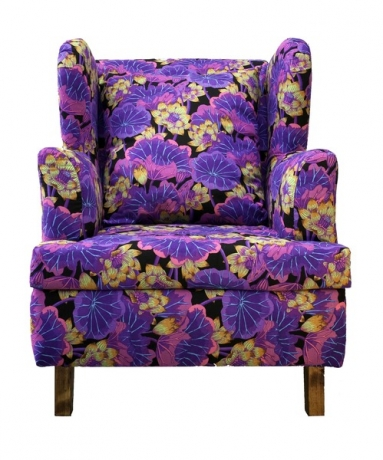 Big purple colorful chair