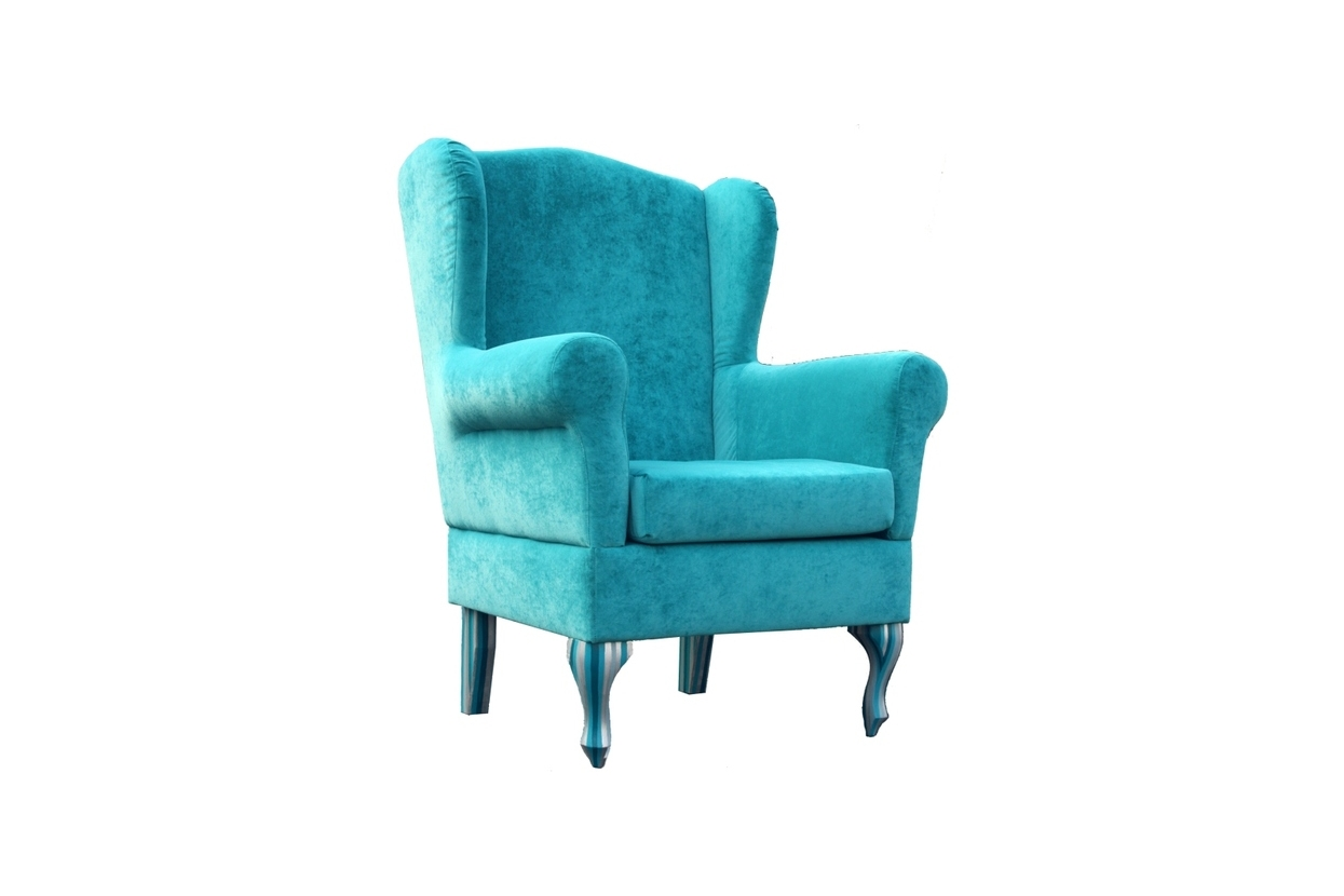 Turquoise soft velvet chair