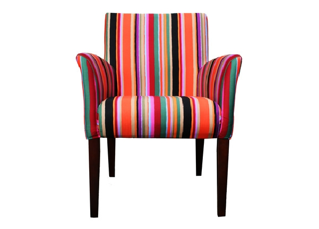 Striped middle chair