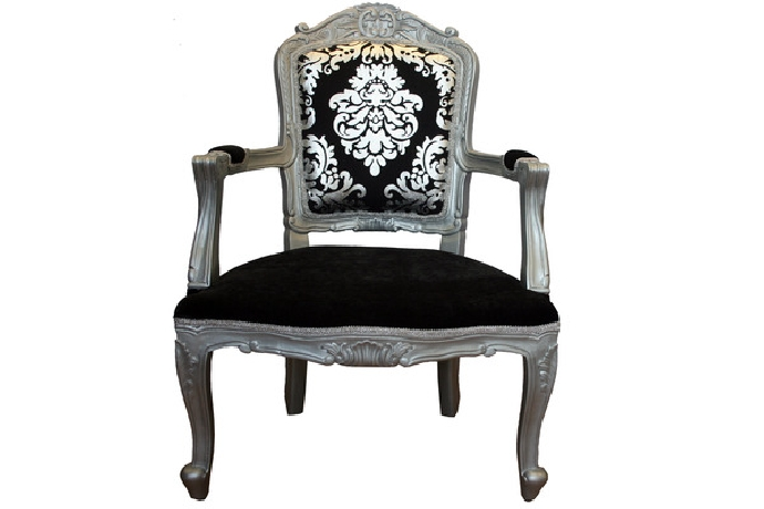 Silver black chair
