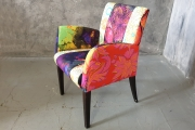 Colourful chair with flower print